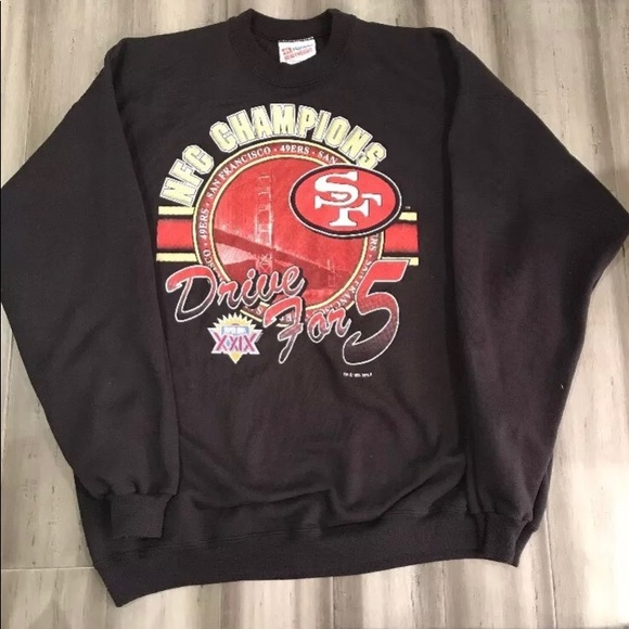 free shipping 777c0 dc318 Vintage NFL San Francisco 49ers Crewneck Sweater